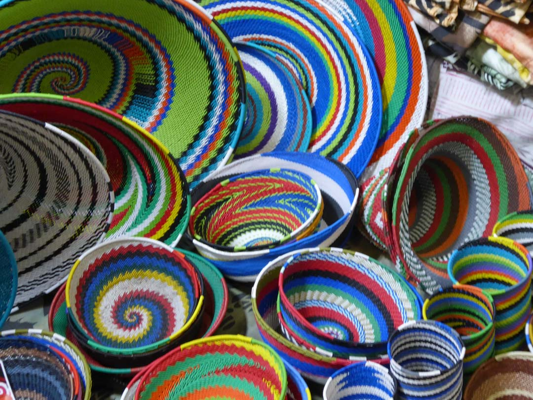 Beautiful baskets in Cape Town