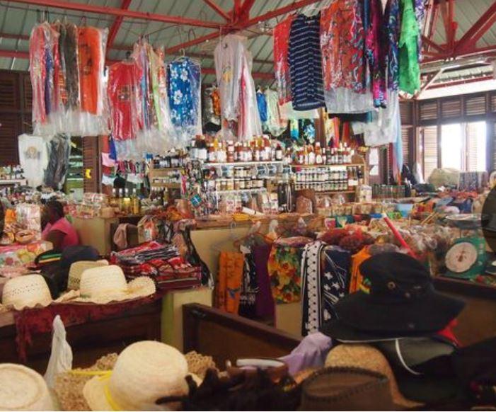 Grenada St. George market clothes etc.