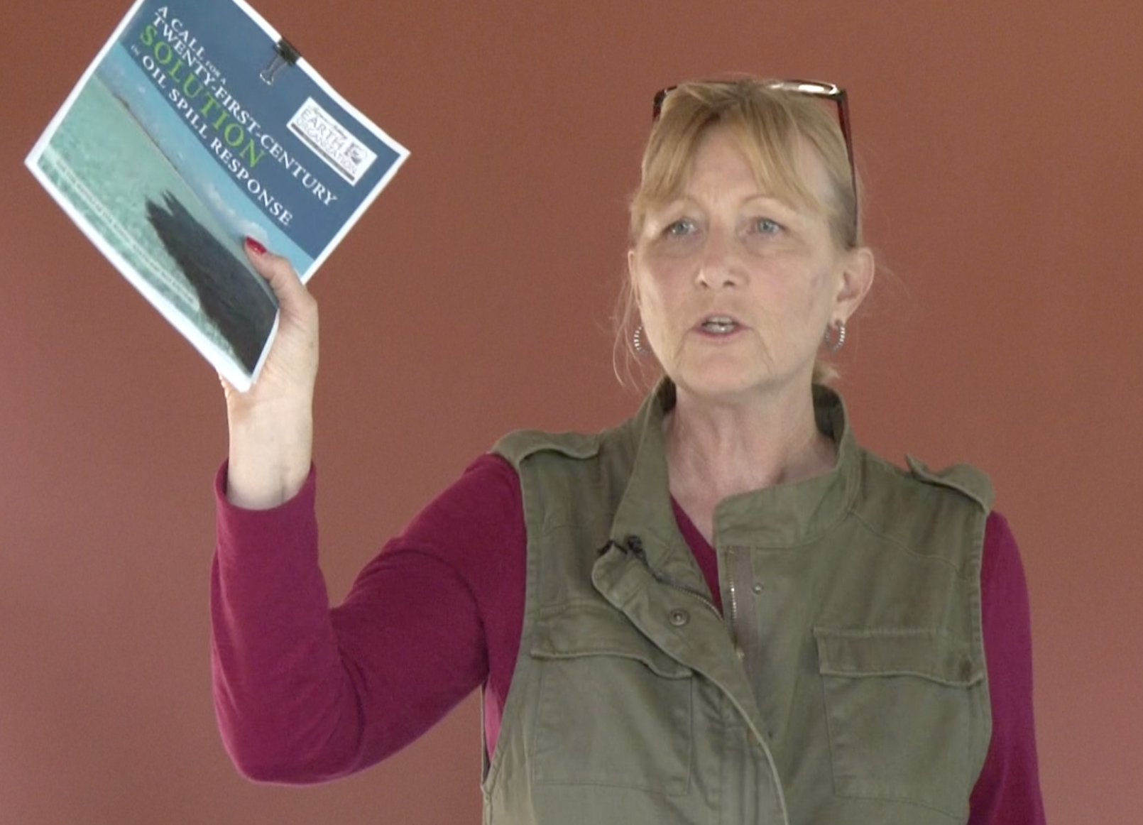 Education - Diane Wagenbrenner briefing re oil spill cleanup solutions